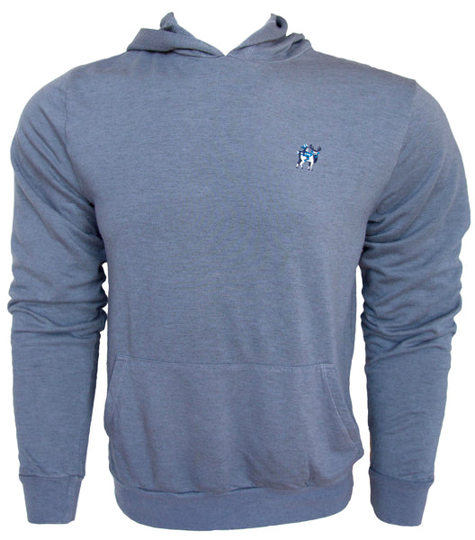 ATHLETIC FLEECE PULL OVER HOODIE - Dusty Blue