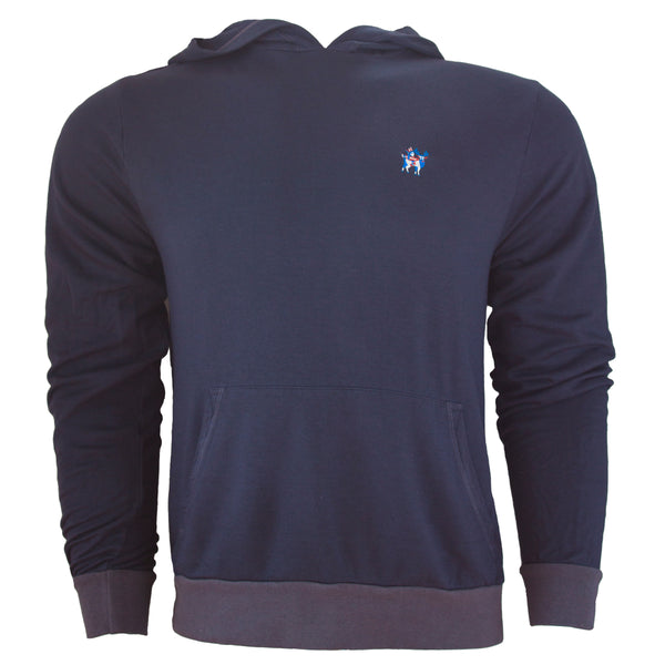 MONTAUKETT NATIVE PULL OVER HOODIE - Beach Navy