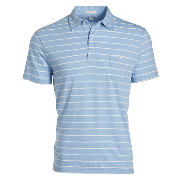 DITCH STRIPE POLO - Bluebell