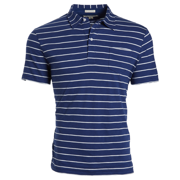 DITCH STRIPE POLO - Estate Blue