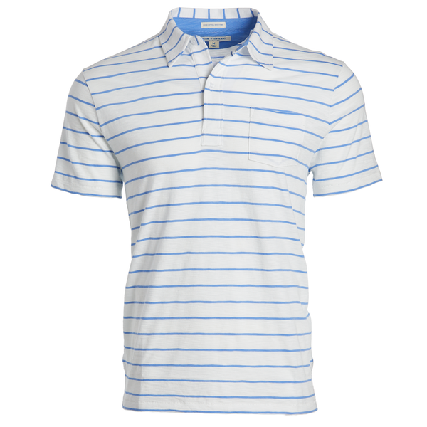 DITCH STRIPE POLO - Classic White