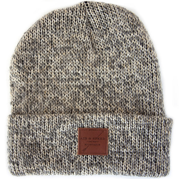 BEACH WALK BEANIE - Charcoal Twist