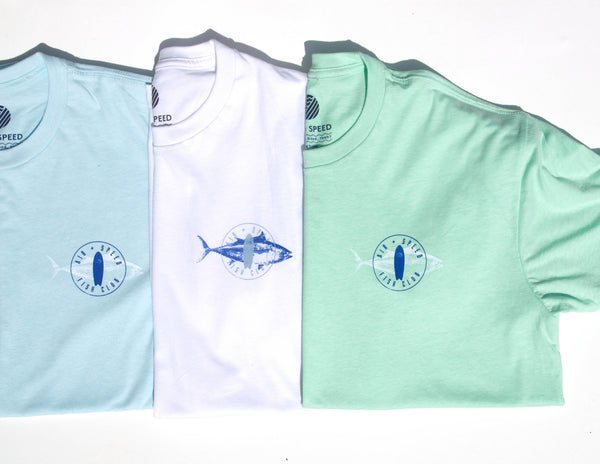 FISH CLUB T-SHIRT - Hint of Mint