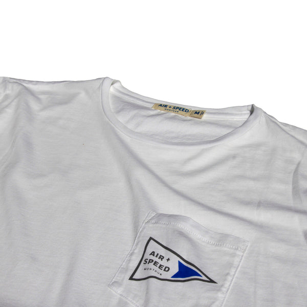Signal Flag Pocket T-Shirt - Classic White