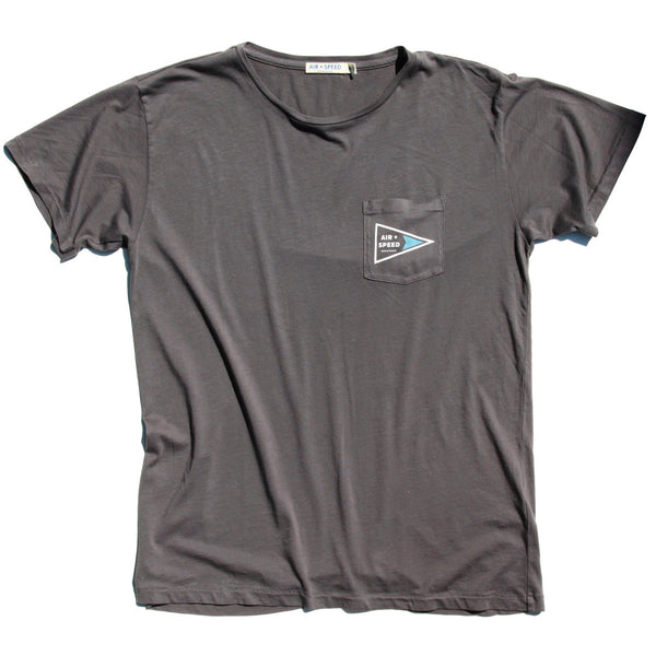 Signal Flag Pocket T-Shirt - Colby Grey
