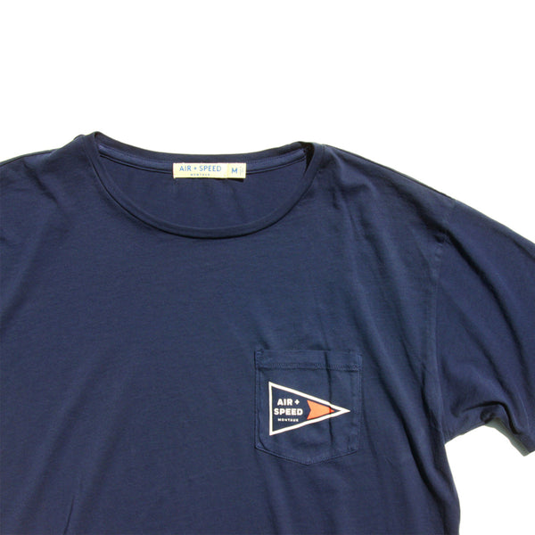 Signal Flag Pocket T-Shirt - Estate Blue