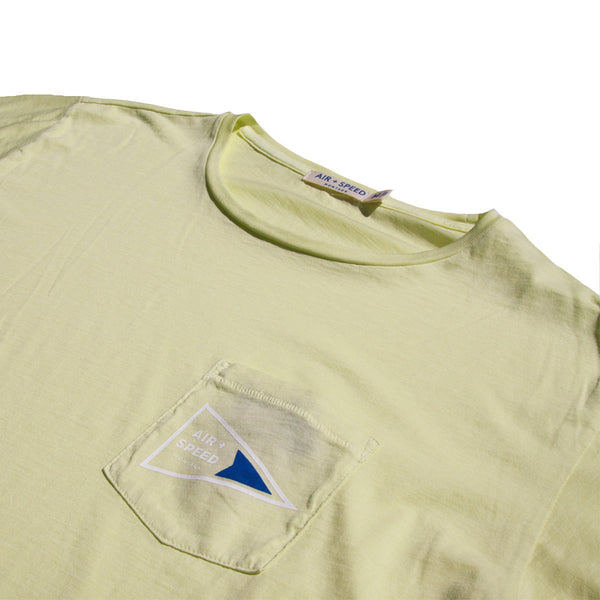 Signal Flag Pocket T-Shirt - Light Lime
