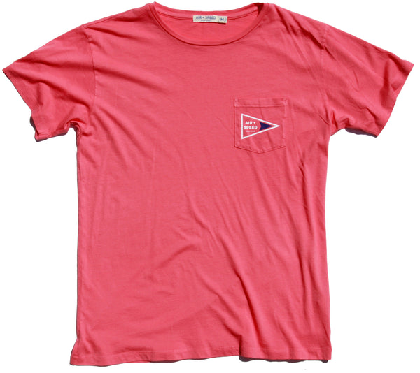 Signal Flag Pocket T-Shirt - Peaceful Coral