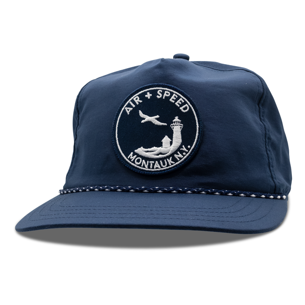 GULL PATCH NYLON SNAPBACK HAT - Admiral Navy