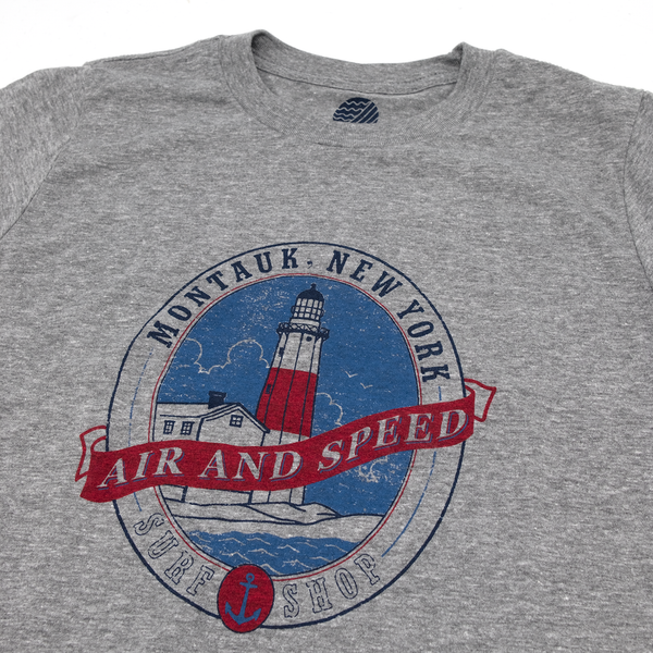 MONTAUK LIGHT KIDS T-SHIRT - Heather Gray