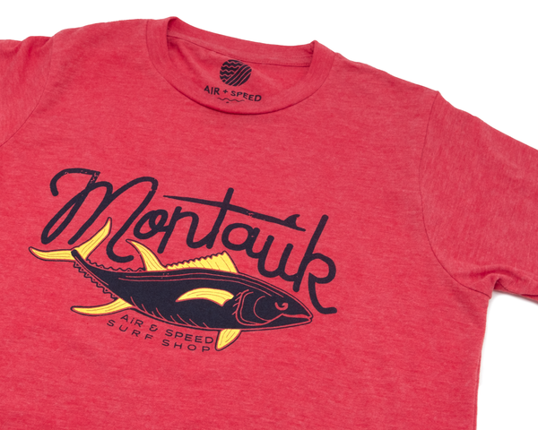 YELLOW FIN TUNA KIDS T-SHIRT - Heather Red