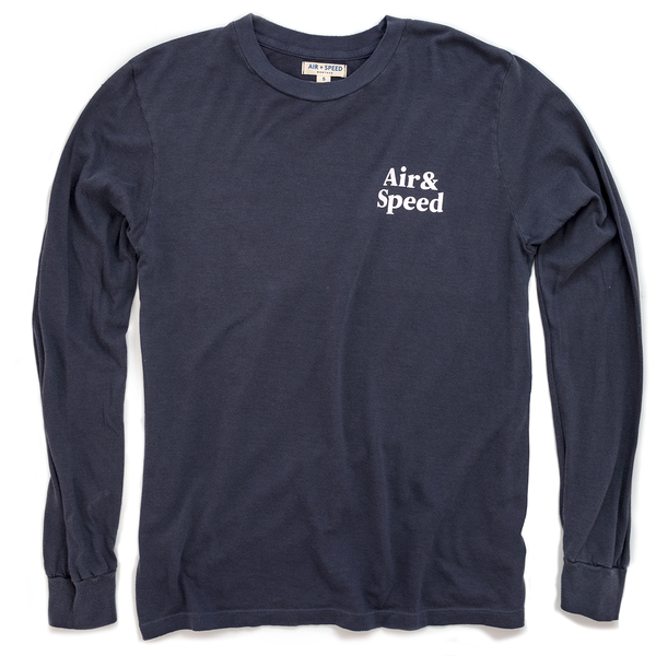 SIMPLE TIMES LONG SLEEVE -  Washed Navy