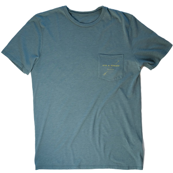 ARROW POCKET T-SHIRT - Seawater