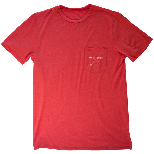 ARROW POCKET T-SHIRT - Tomato