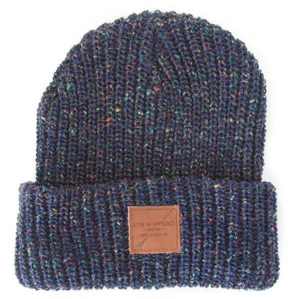 LAZY POINT BEANIE - Speckled Blue