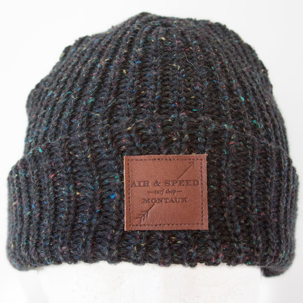 LAZY POINT BEANIE - Speckled Black