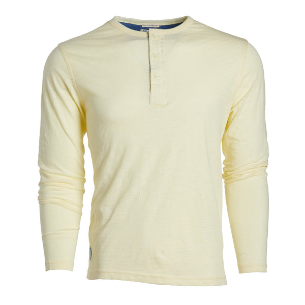 BREEZE LONG SLEEVE HENLEY - Autumn Wheat