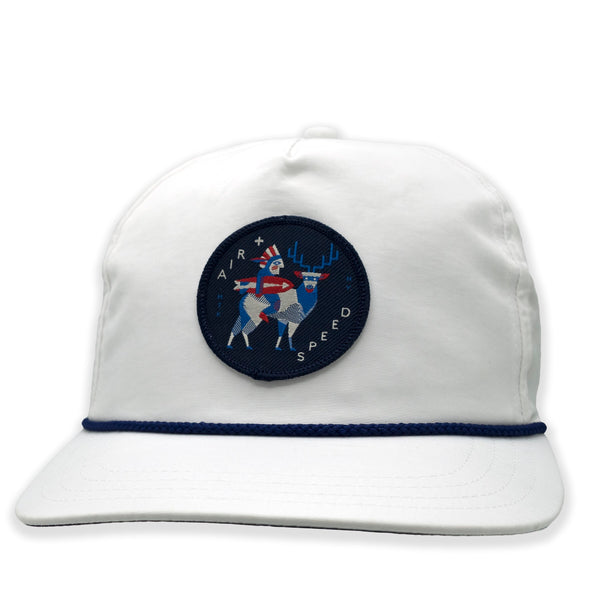 NATIVE PATCH HAT - Club White With Navy