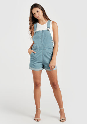 Hailey Overalls - Sail Blue