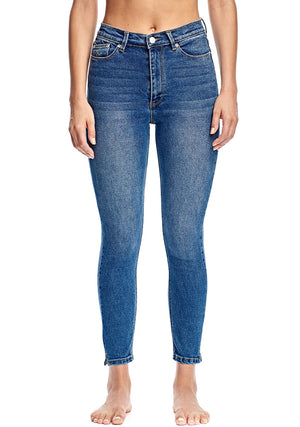 Harrys Hi Crop - Blue Vintage - RES Denim