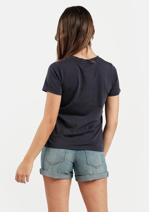 Res Box Tee - Midnight Navy