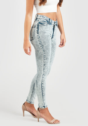 Kitty Skinny Ankle - Frosty Blue
