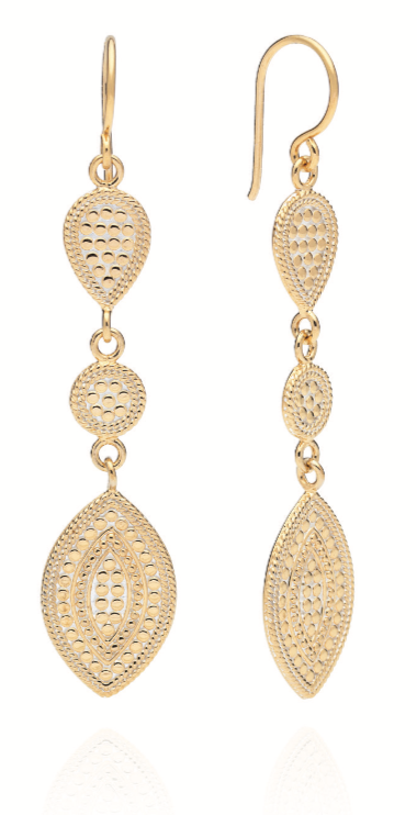 Marquise Triple Drop Earings
