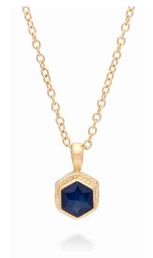 Blue Sapphire Geo Stacking Necklace