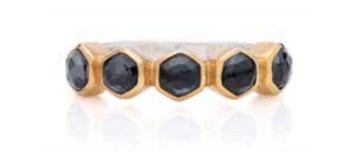Hematite Geo Multi-Stone Stacking Ring