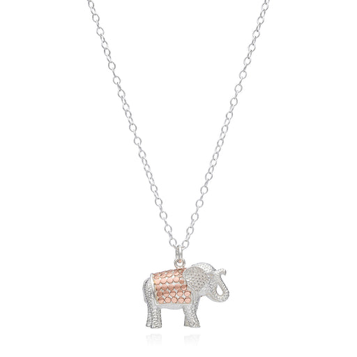 Elephant Charm Necklace - Rose Gold