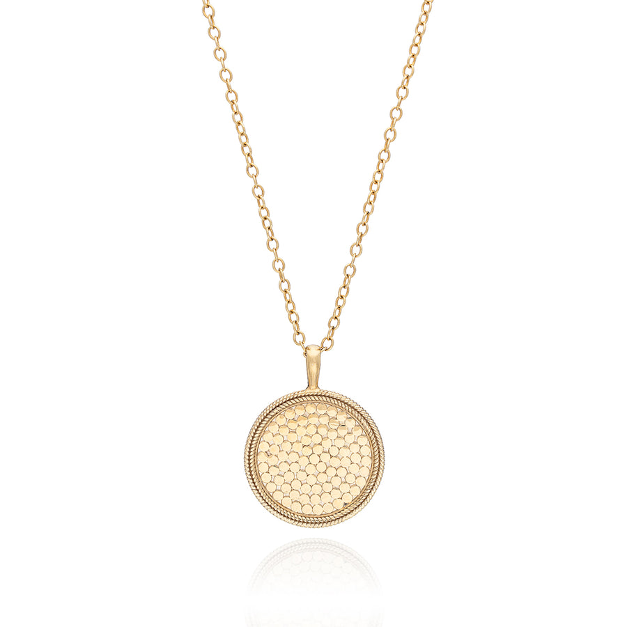 Classic Large Medallion Necklace - Gold