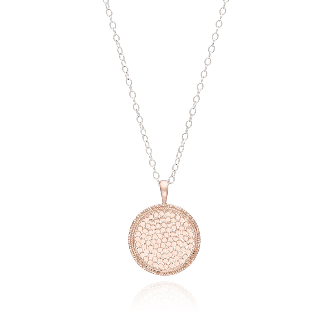 Medallion Necklace - Rose Gold