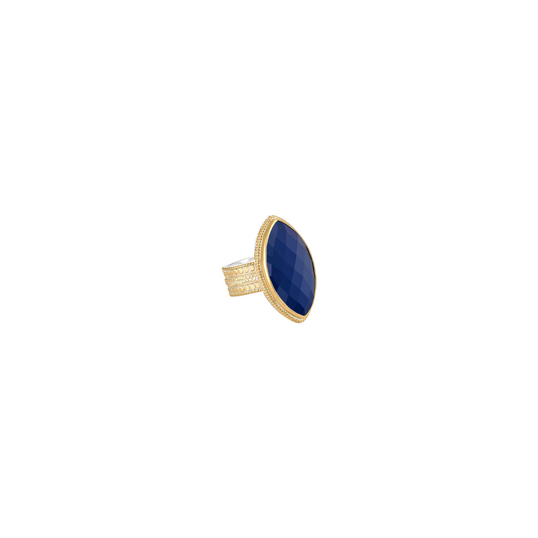 Lapis Marquise Ring - Gold