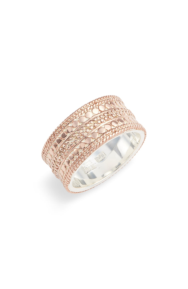 Divided Cigar Band Ring - Rose Gold