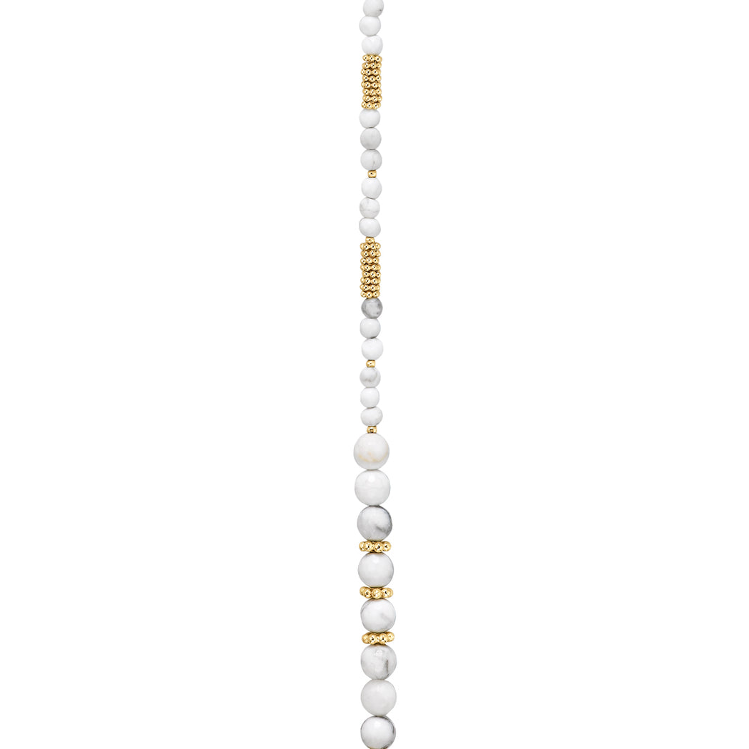Howlite Midi Large Beaded Necklace