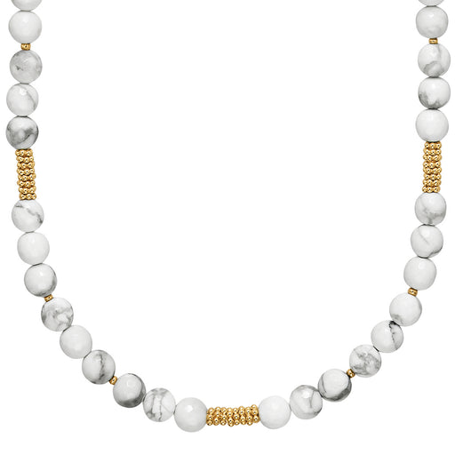Howlite Large Beaded Necklace