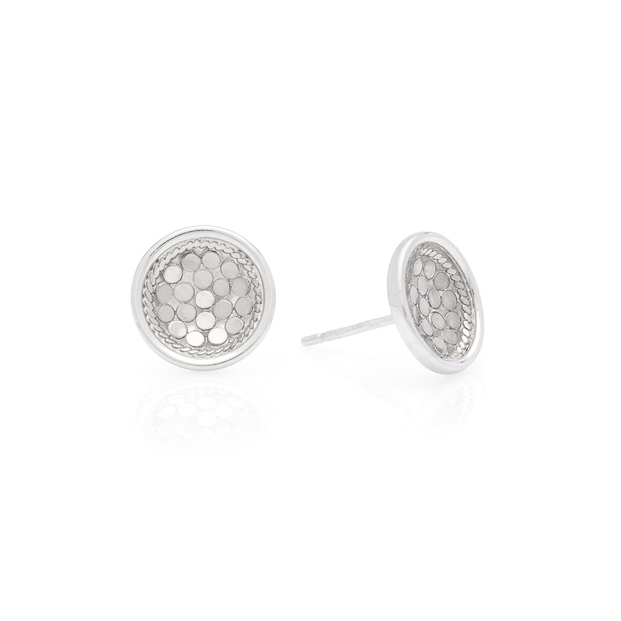 Classic Dish Stud Earrings - Silver
