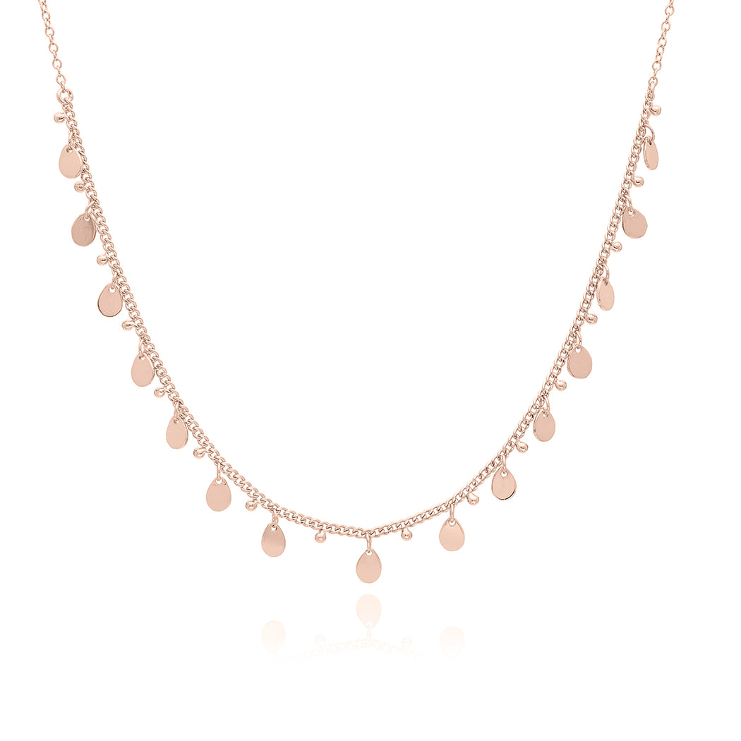 Petite Charm Collar Necklace - Rose Gold