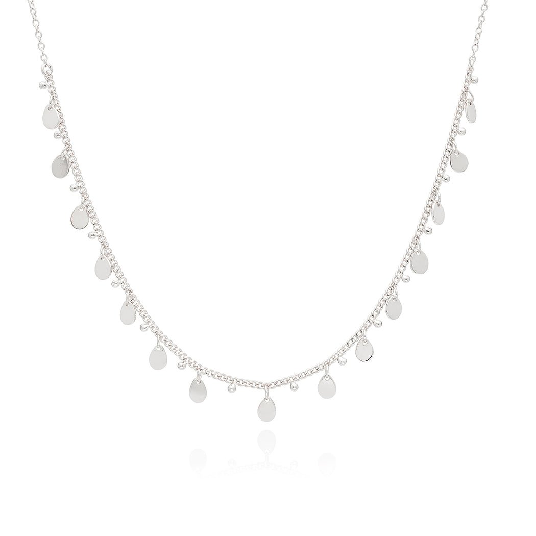 Petite Charm Collar Necklace - Silver