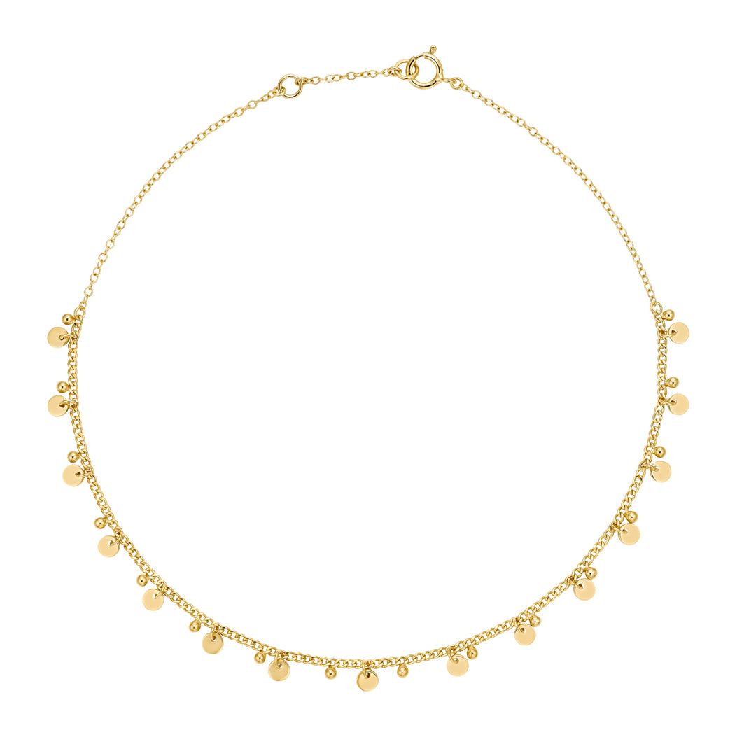 Charm Collar Necklace - Gold