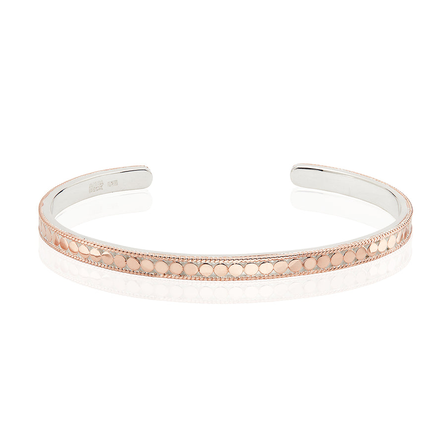 Dotted Stacking Cuff - Rose Gold