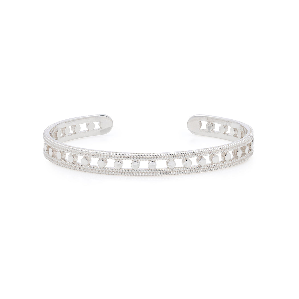 Open Circle Stacking Cuff - Silver
