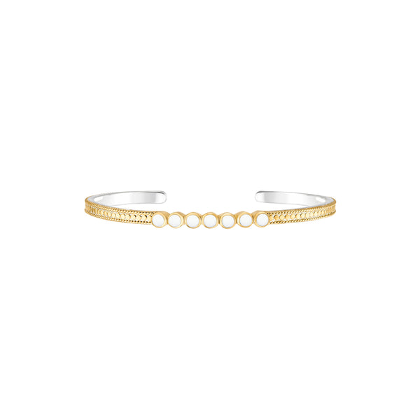 Clarity White Agate Cuff - Gold