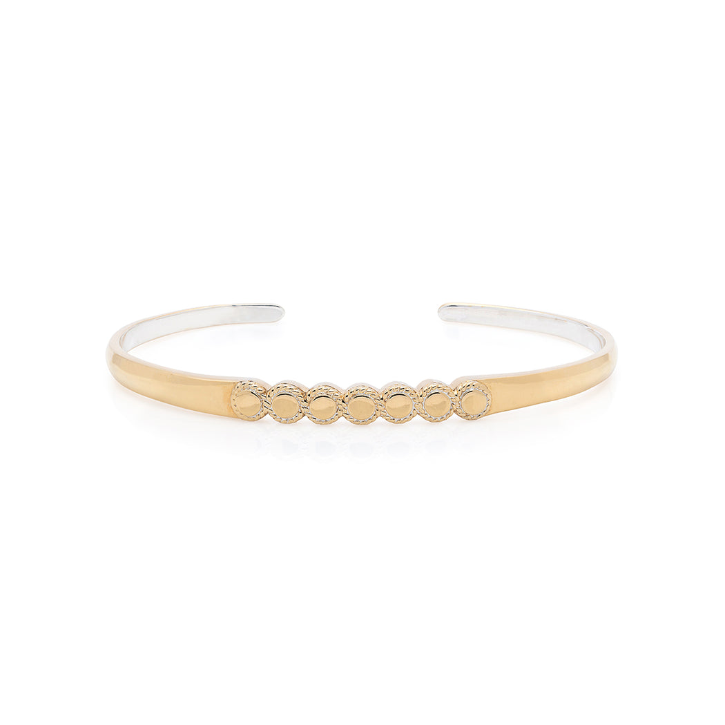Connected Circle Stacking Cuff - Gold