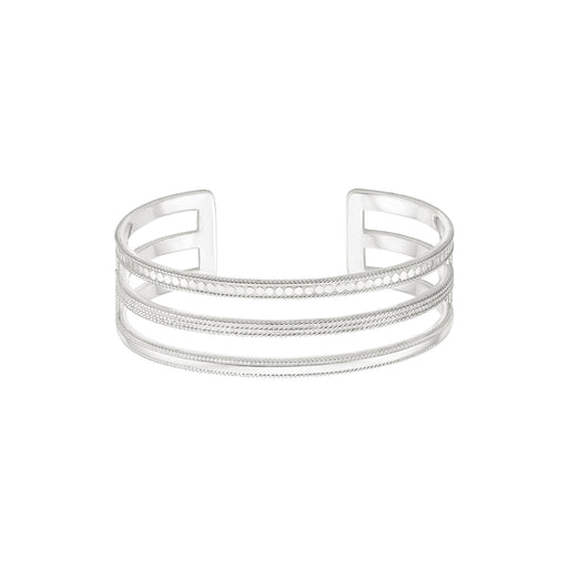 Divided Triple Bar Cuff - Silver