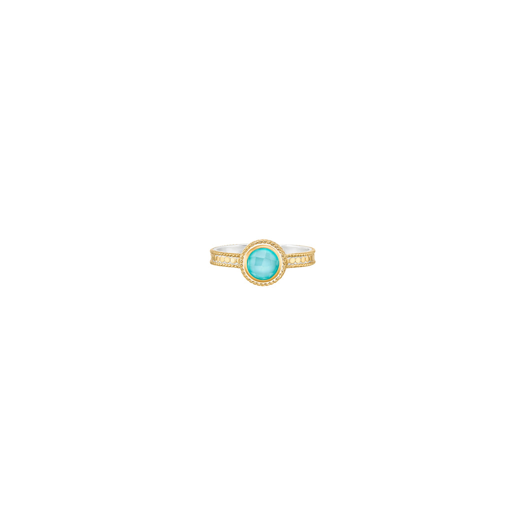Abundance Turquoise Single Stone Ring - Gold