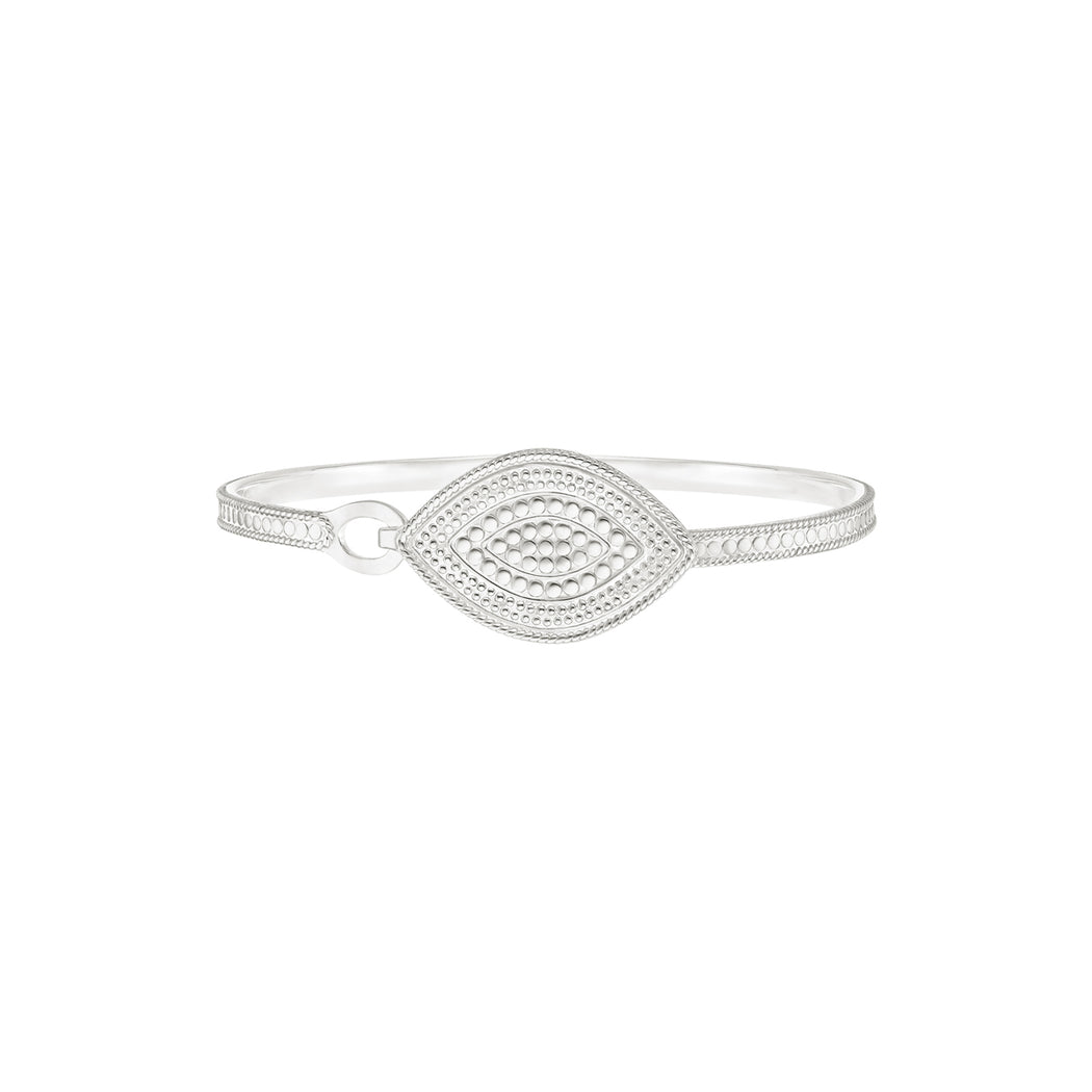 Marquise Hook Clasp Bracelet - Silver