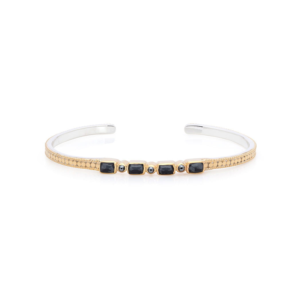 Hematite Mosaic Stacking Cuff - Gold