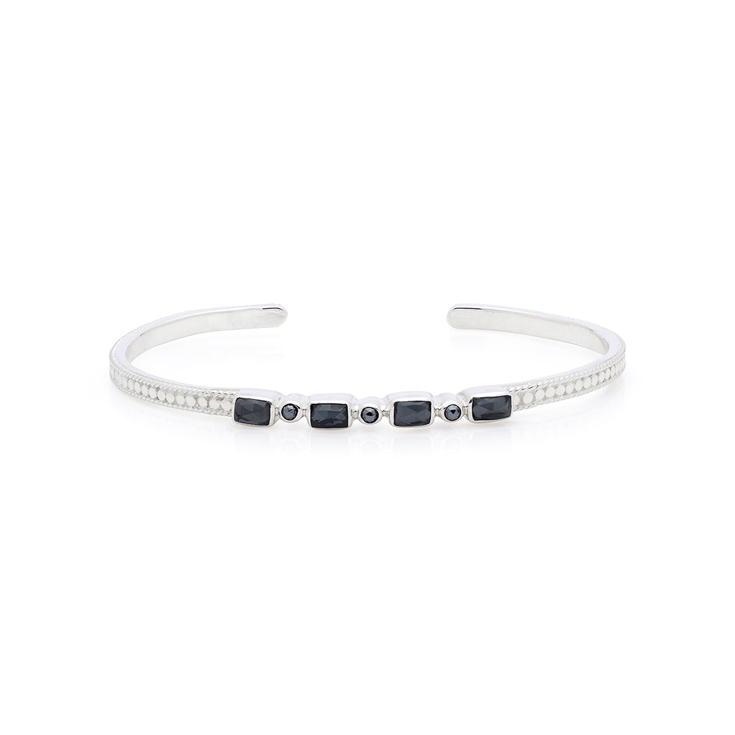 Limited Edition: Hematite Mosaic Stacking Cuff - Silver