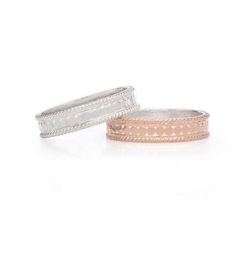 Stacking Rings (Set of 2) - Rose Gold & Silver